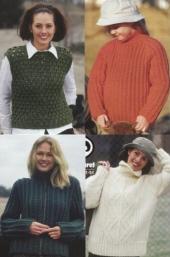 Flera mönster av garnet Laponie