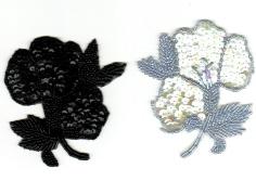 Paljettemblem - Blomma