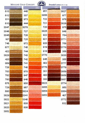 Mouliné färg 605-738