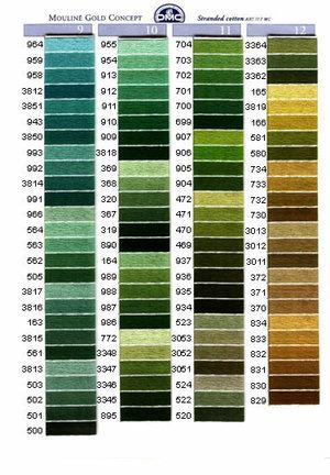 Mouliné färg 912-966